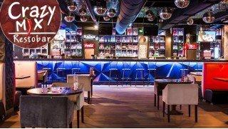 Все меню и бар в Crazy MiX на Семеновской и Красных воротах  со скидкой 50% в любой день недели! Это крейзи!