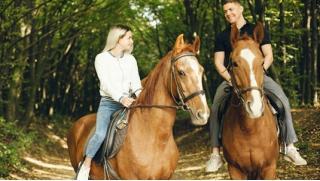 Конная прогулка для начинающего без опыта езды верхом или романтическая прогулка на лошадях для двоих от КСК «Тандем»! Скидка 52%!