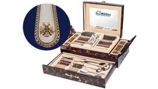 Фешенебельность на твоей кухне! Столовый набор из 72-х предметов Haus Muller со скидкой 50%! Всего за 5590 рублей!